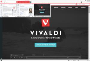 Группировка вкладок в Vivaldi