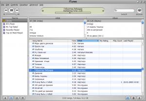 Главное окно iTunes с библиотекой