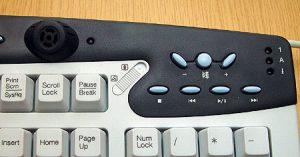 Клавиши для управления звуком