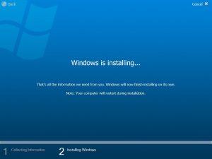 Установка Windows Vista. В процессе...