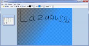 Главное окно LazPaint в Windows 7
