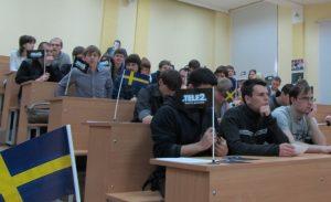 """Студенты ВятГУ в ожидании подписания соглашения"""""""