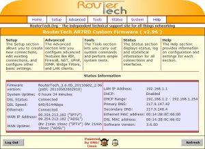Acorp LAN120 с прошивкой RouterTech