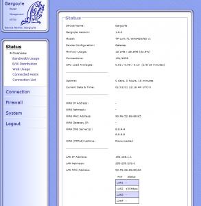 TP-Link TL-WR842ND с прошивкой  Gargoyle