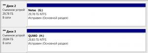 Netac U335 и QUMO In&Yan в диспетчере дисков