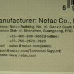 Netac U335 - адрес производителя на упаковке
